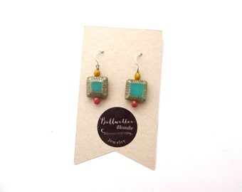 Turquoise Earrings // Small Earrings // Everyday Earrings // Beaded Earrings // Simple Earrings // Gifts for Women // Jewlery Gift