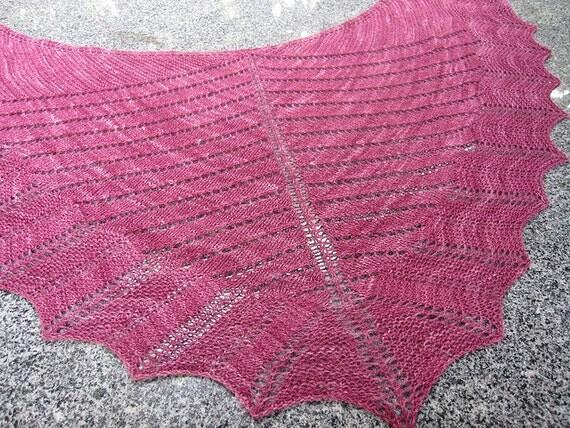 PDF knitting pattern, scarf, scarflette, lace, shawl, wrap Alyssum
