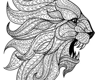 View animal coloring pages by baymoonstudio on etsy for Rasta coloring pages