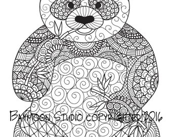 fox face coloring page printable coloring pages by baymoonstudio