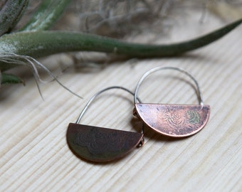 Mandala Arc Earrings
