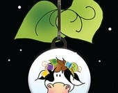 Zipper Charm - Quilting Cow