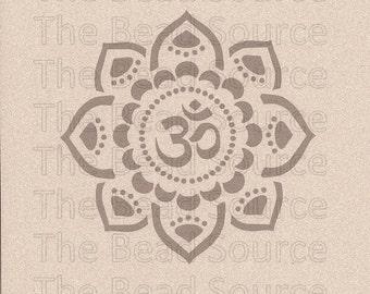 Om Stencil, Om Mandala Stencil, Om, Mylar Stencil, Yoga Flower Stencil, Sanskrit, Om Symbol, Painting Stencil, pochoir, art stencil, mehndi