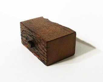 Trinket Box With Drawer Made Of Antique Barn Wood