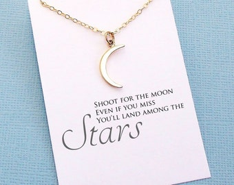 Graduation Gifts   Crescent Moon Necklace, Graduation Gifts for Her, Class of 2017, Student Gift, College Student, High School, Grad   G09