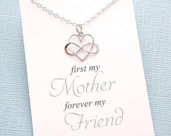 Gift for Mom | Infinity Heart Necklace, Gifts for Mom, Mothers Day Gifts, Mom Gift, Mothers Gift, Rosegold | Silver, Rose Gold, Gold | M01