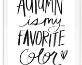 Autumn Is My Favorite - Scientific illustration. Beautifully textured cotton canvas art print. Order as a 5x7 8x10 11x14 or 16x20 size.