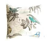 Kissen-Abdeckungen - Hauptdekor - Vogel Kissen Cover/blau Kissen Abdeckungen/Throw Kissen Abdeckungen/Sommer Kissen/Blue Bird/Yellow Bird/Aqua/Word-Kissen