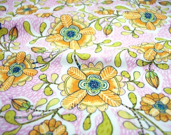Happy Blossoms in Pink from the Hello World Collection by Cori Dantini for Blend Fabrics - fabric by the quarter yard