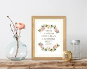 Downton Abbey Quotes, Countess Violet, Violet Crawley, Inspirational Quote Prints, Office Wall Decor, Watercolor Flowers