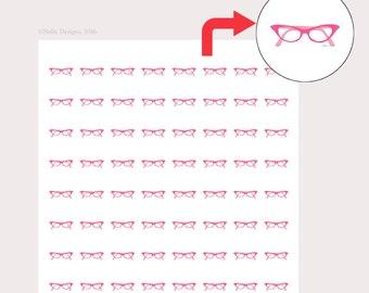 stickers for planner, personal planner stickers, cat eye glasses frames, retro, Erin Condren, Inkwell, Kikki K, Filofax, Happy Planner