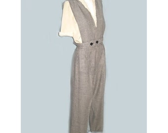 Rare 1940's Houndstooth Highwaisted Tailored Trousers with Vest