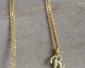 Initial Necklaces in Gold, letter necklaces, charm necklaces, initial charms, monogram necklaces, gold necklaces