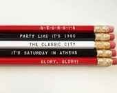 Red and Black Georgia Pencil Set