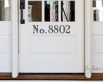 Front Door Number Decal • Street Number on your Front Door Adds Curb Appeal - Classy Font - House Address Number Door Decal Made in USA