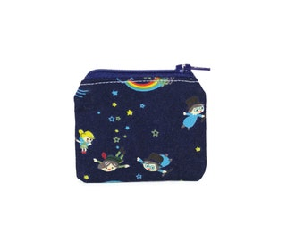 ONLY ONE Mini Zipper Pouch / Cute Camera Bag With Peter Pan to Neverland