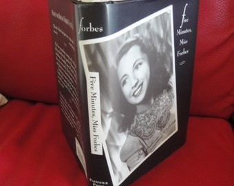 Autographed first edition book w/ dust jacket, Five Minutes Miss Forbes, written by Beverly Forbes, British actress, 1994 Fairmile Press