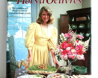 Vintage Martha Stewart Cookbook - Hors D' Oeuvres Cookbook - Illustrated - Collectible - Wedding Ideas - Party Foods
