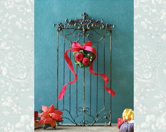 Dollhouse Accessories - French Style Christmas Wrought Iron Grill Fence - Dollhouse Home Decor