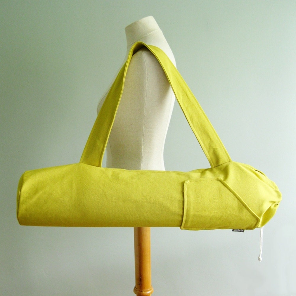 Yoga Bag. Gift For Yogi. Yellow Yoga Mat Bag. Yoga Fashion