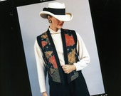 Judy Bishop Collection The Panel Vest Wearable Art Pattern Size XS to XX Large Uncut Vintage Sewing Quilting Pattern 1996