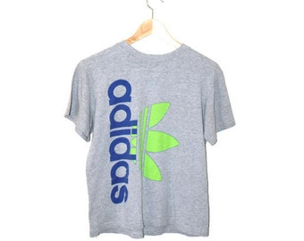vintage Adidas tshirt 90s grunge heather grey worn in athletic tee
