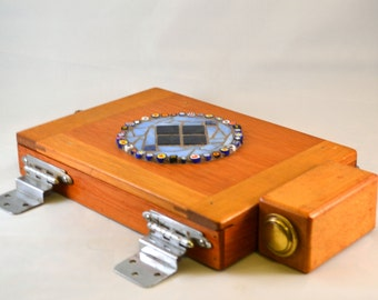 TUCKER the TURTLE BOX, Assemblage Art Recycled Robot Box
