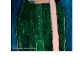 Weary Sad Girl Portrait Whimsical Digital Art Print. Gift for Her Living Room Wall Art Decor