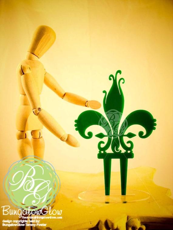 Fleur De Lis Cake topper, Table Decoration, Party Centerpiece, Mardi Gras, New Orleans
