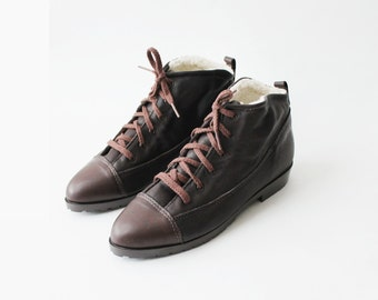 NOS 1990's Eddie Bauer Oxfords Ankle Shearling Boots