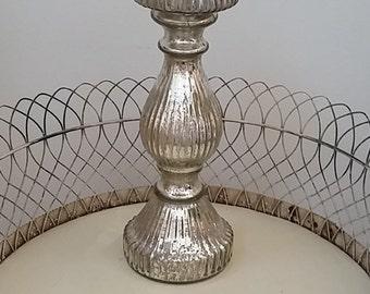 vintage large mercury candleholder