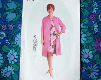 """1960s Dress & Coat Pattern - Vintage Style Sewing Pattern for Sixties Dress and Coat Bust 36"""""""