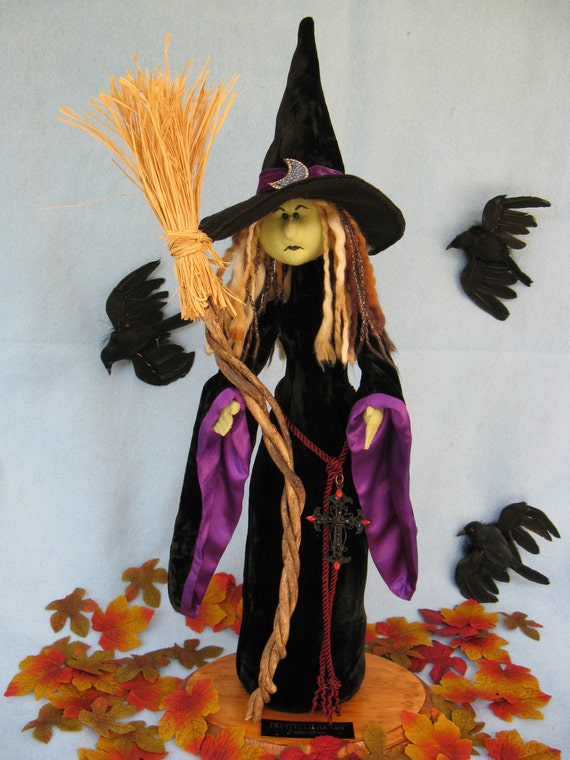 Mailed Cloth Doll Pattern  A Beautiful yet Scary Halloween Witch