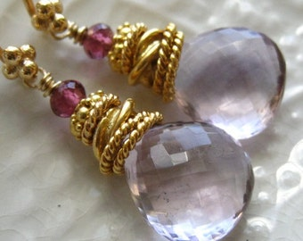 "Pink Amethyst Earrings-""Sugar Plum"""