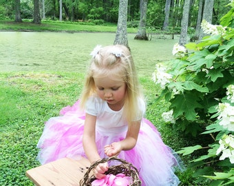Rustic Twig Flower Girl Basket, Eco Conscious Wedding, Flower Girl Basket, English Ivy, LSH4