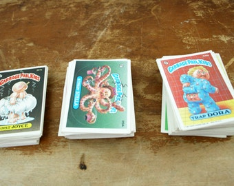 vintage 1980s Group of 120+ Garbage Pail Kids Trading Cards Stickers Loose Cards 1986
