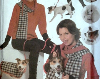 Misses' and Dog Winter Accessories, Simplicity 4749 Craft Sewing Pattern, All Sizes, Dog Coat, Collar, Leash, Leg Warmers, Boots