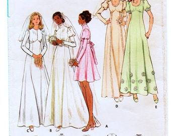 """Vintage Butterick 6958 Misses' Wedding or Bridesmaid Dress Sewing Pattern Bust 38"""""""