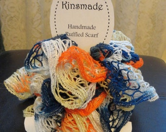 Denver Bronco fanwear ruffled scarf fashion accessory crochet boa Superbowl Champions
