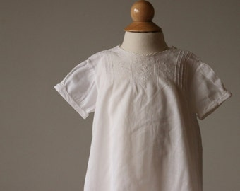 1940s Heirloom Batiste Cotton Dress~Size 6 Months