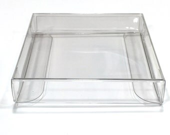 """Clear Boxes 2 3/4"""" x 9/16"""" x 2 11/16"""" Clear Chocolate Box for 4pc, 25 boxes"""