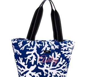 Navy Scout Daytripper Tote Bag, monogrammed FREE - Preppy gift, Reefer Sutherland