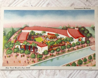 New York World's Fair 1939 Vintage Postcard Consumers Building