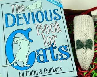 Devious Book for Cats,  Gift Box combo with darn!socks toy