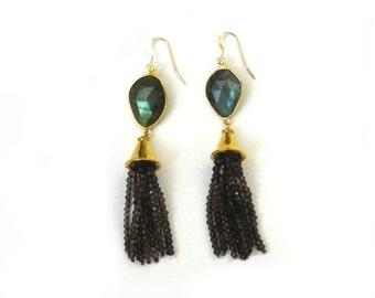 Moonscape Tassel Earrings