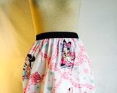 "Sweet Minnie Mouse Skirt  - -Small 24"" - 28"" waist"
