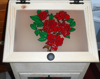 Potato Storage Bin - Roses