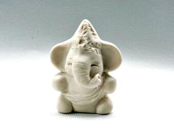 Elephant God Ganesh Statue Miniature Ganesha Hindu Porcelain Figurine Art Sculpture Collectible Zoomorphic
