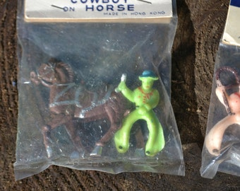 Hand Painted Cowboys on Horses in original package