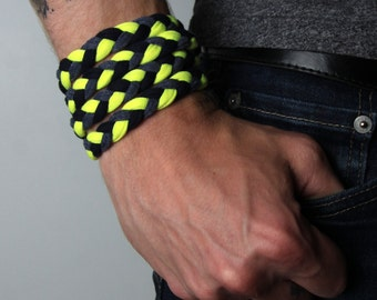 Neon Bracelet, Neon Jewelry, Neon, Neon Cuff, Neon Cuff Bracelet, NeonBraided Bracelet, Neon Wrap Bracelet, Neon Bracelet Cuff, Festival